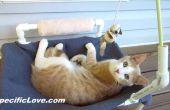 Hamaca PVC gato con juguetes