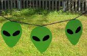 Falso vitral Alien proyectos bandera y otros