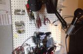 Espacio de trabajo de electrónica DIY fácil