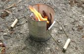 Camping estufa de lata