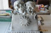 Marcador de la tumba de piedra del hueso