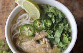 Vietnamita de pollo sopa de fideos