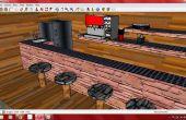 Dormitorio de Hangout con Snack Bar y espacio de estudio!
