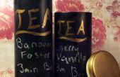 Latas de té Upcycled pizarra