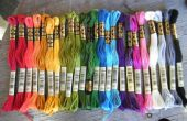 Organizar un número razonable de bordado seda colores