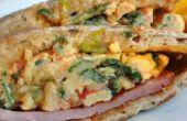 Hacer sándwiches para desayuno Florentino huevos adelante