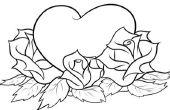 Cómo dibujar un corazón con rosas
