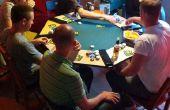 8 fácil asiento tapa de tabla del póker con iluminación