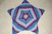 Starburst alfombra de ganchillo