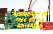 ESTILO libre de frambuesa PI alimentación (RPI energía fuente HACK)