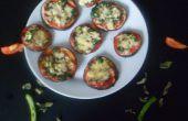 Pizzas de vegetales huevo Mini