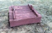 Construcción de un recinto grande con tapas de asiento de banco
