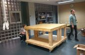 Makerspace Workbench sobre ruedas