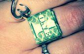 Dollar Bill Origami anillo