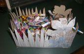 Hacer una canasta de Pascua de materiales que se encuentran en la papelera de reciclaje