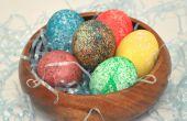 Cómo teñir Pascua huevos con arroz