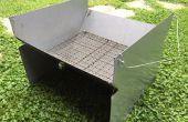 Carbón de leña barbacoa Camping (ligero, portátil, plegable)