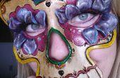 Máscara de calavera de azúcar de cuero