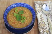 Sopa de lentejas al Curry de coco