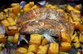 Salmón sobre cama de verduras con quinua al horno!