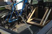 Estante de la bici de madera