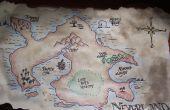 Hacer un mapa antiguo-en busca de Neverland