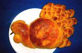 Pan Challah calabaza (Turquía en forma de)