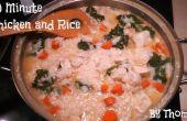 Sopa de pollo y arroz en 30 minutos