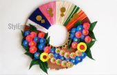 Idea de decoración de pared de DIY: Cómo hacer una guirnalda de papel para decoración del hogar