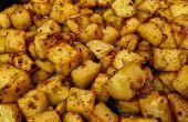 Asado de patatas con ajo y Romero