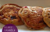 Berry Granola panqueques receta