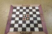 Tablero de ajedrez personalizado laser-corte