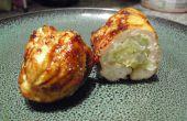 Relleno de pollo BBQ (sushi roll de estilo)