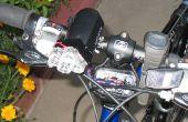 Una luz de bici portátil luxeon