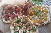 Pizzas de frutas con miel