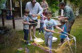 Burbujas gigantes en el bulto (varita y jugo) para fiesta de niños (ingredientes de UK)