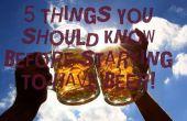 5 cosas que debes saber antes de empezar a tienen cerveza!