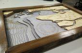 Hacer mapas batimétricos de corte por láser