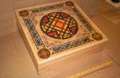 Grabado runas piedra establece y decorado caja de almacenamiento