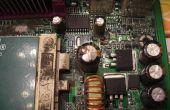 Cómo reparar condensadores en las motherboards de computadoras y otros dispositivos electrónicos.