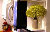 Cómo: crear un estante pequeño al lado del horno de microondas (o en cualquier lugar!)