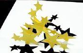 Cómo hacer estrellas de Pop Up (Kirigami 3D) baile estrellas tarjeta de felicitación!