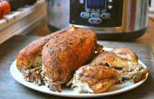 Hornear un pollo entero en una olla