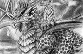 ENT y Dragón lápiz dibujo
