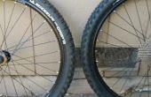Conversión de neumáticos sin cámara de aire bicicleta