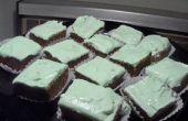 Glace Brownies cereza con glaseado de menta