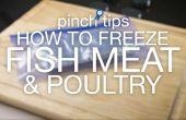 Cómo congelar pescados, carnes y aves de corral