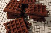 Rápido (sin gluten opcional) galletas de barquillo de Chocolate