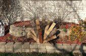 Reciclado madera de plataformas de acción de gracias Turquía decoración