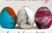 Huevos de Pascua de fieltro cómo hacer único mojado